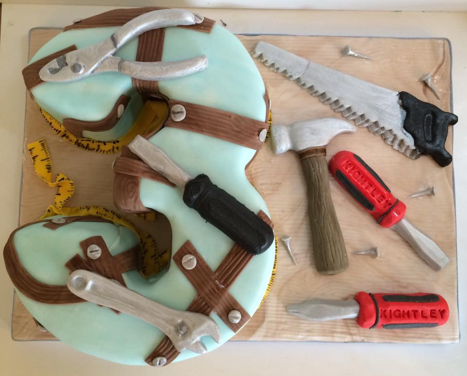 3rd Birthday with edible tools - Village Green Bakes