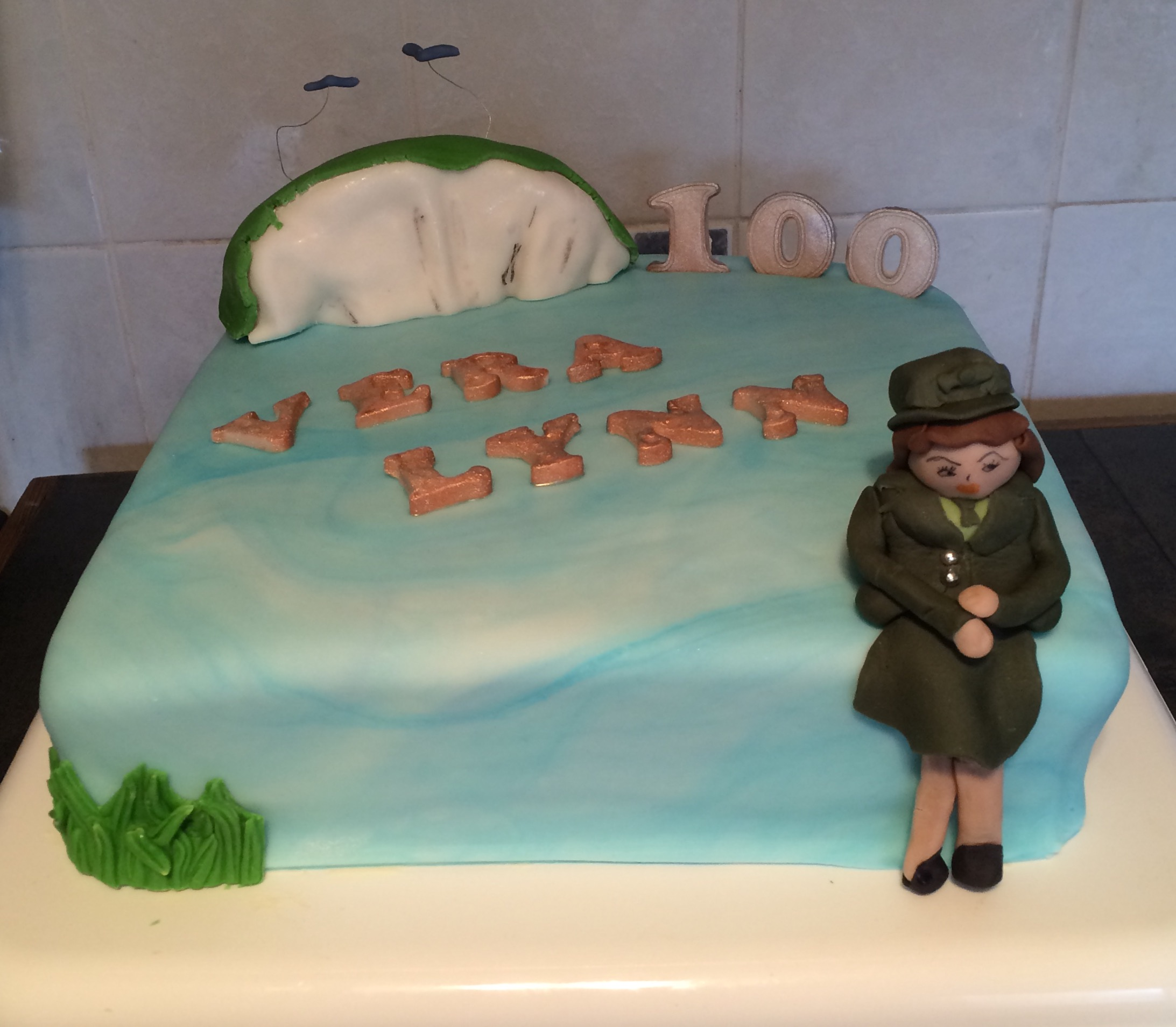 100th Birthday Cake - Village Green Bakes
