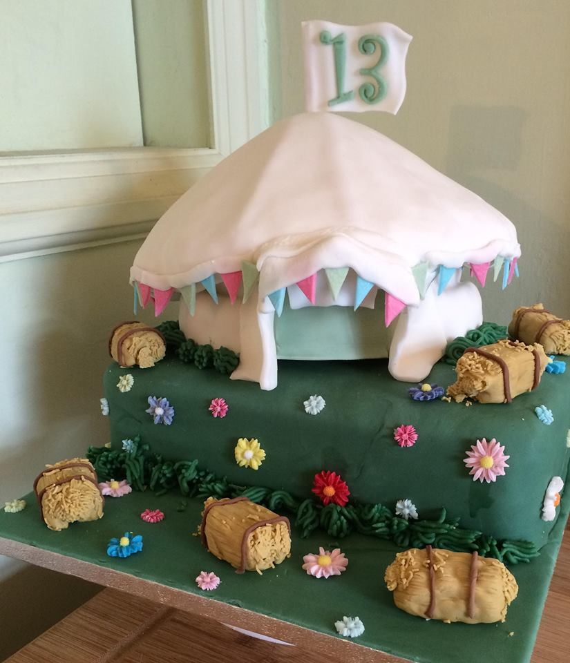 13th Birthday Cake - Tent and Hay Bales - Village Green Bakes