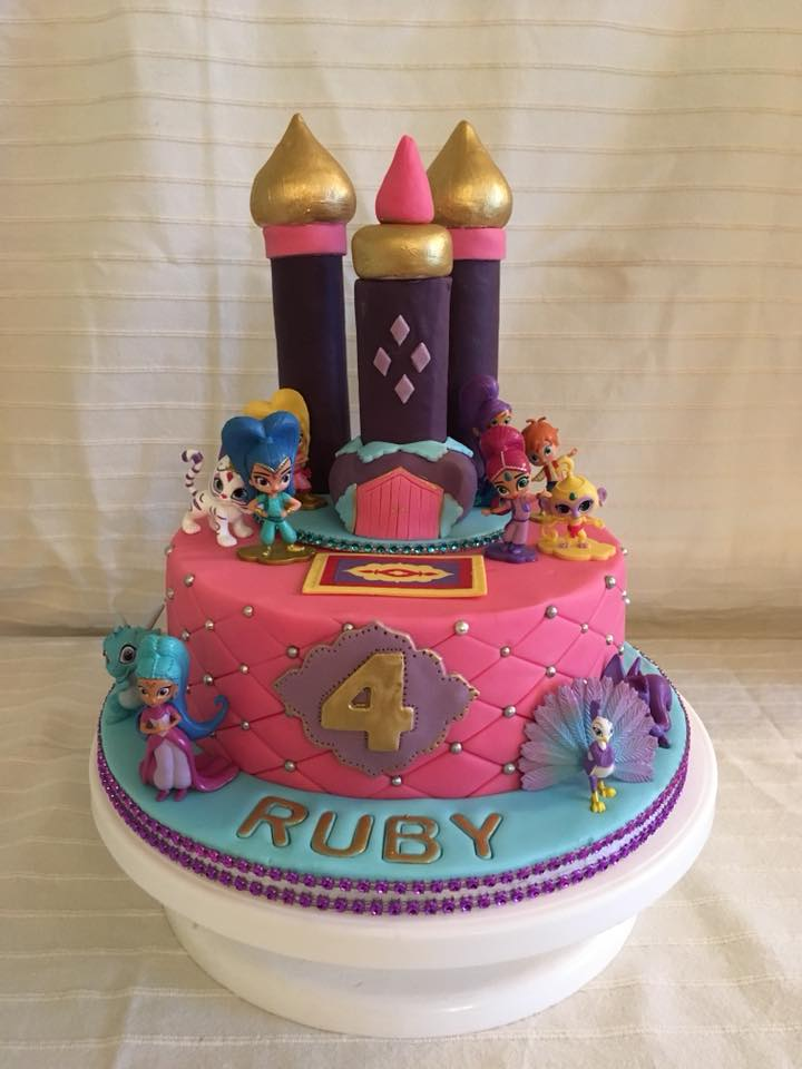 4 Year Old Birthday Cake For Ruby