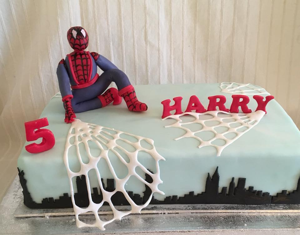 5 Year Old Spiderman Birthday Cake For Harry