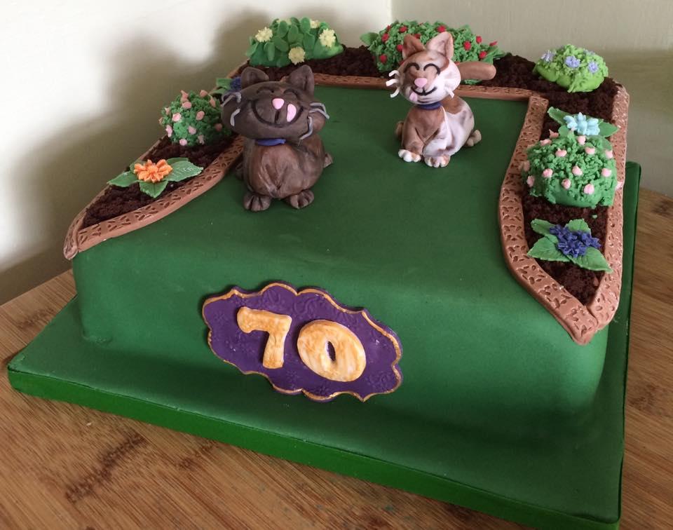 70th Birthday Cake - Village Green Bakes