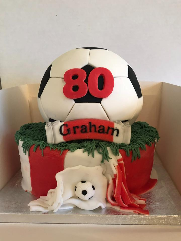 80 Year Old Graham Saints Cake