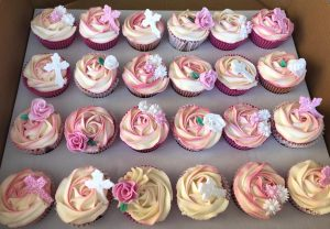 Rose Cup Cakes in Pastel Colours