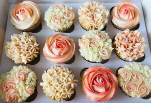 Floral Cup Cakes